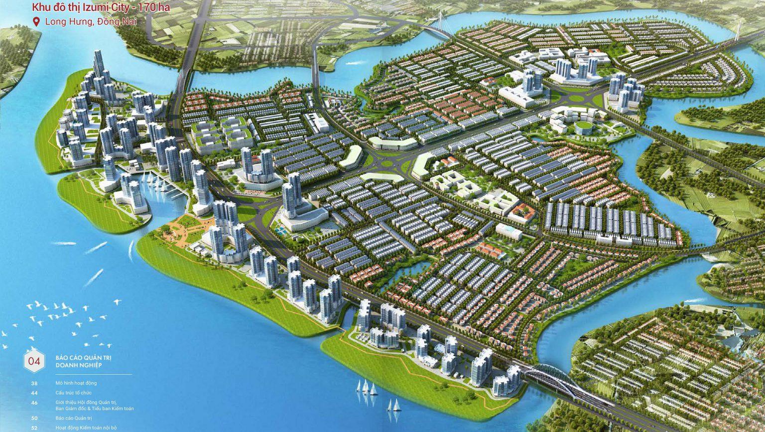 Phối cảnh tổng thể dự án khu đô thị Izumi City Biên Hòa, Đồng Nai